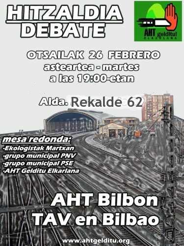 AHT Bilbon Hitzaldia-Debate El TAV en Bilbao