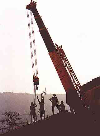 Antena montatzen