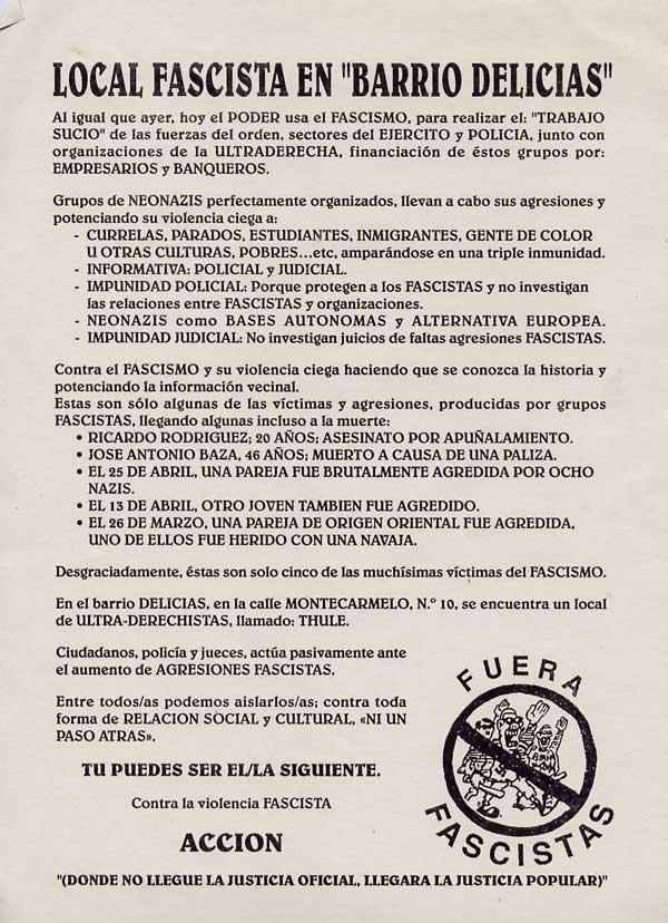 Local fascista en Delicias
