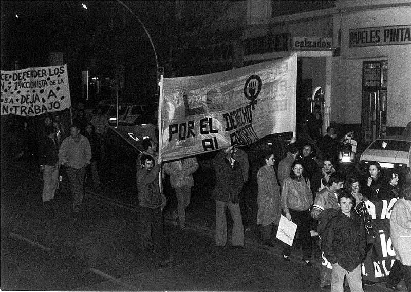 Mujeres pro-aborto se encadenan en el Gobierno Civil