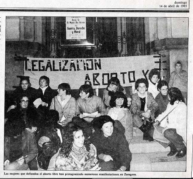 Legalización aborto