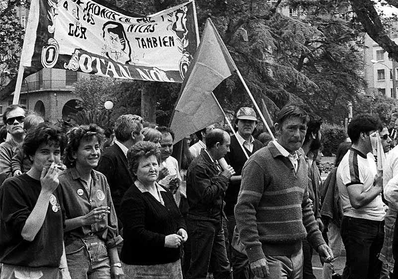 Manifestación contra la OTAN