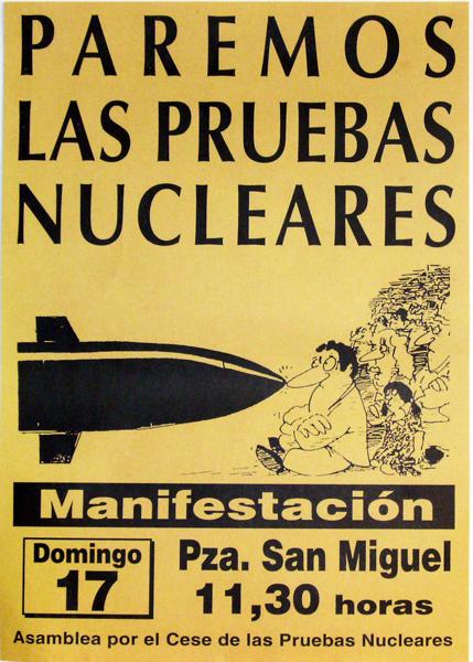 Paremos las pruebas nucleares