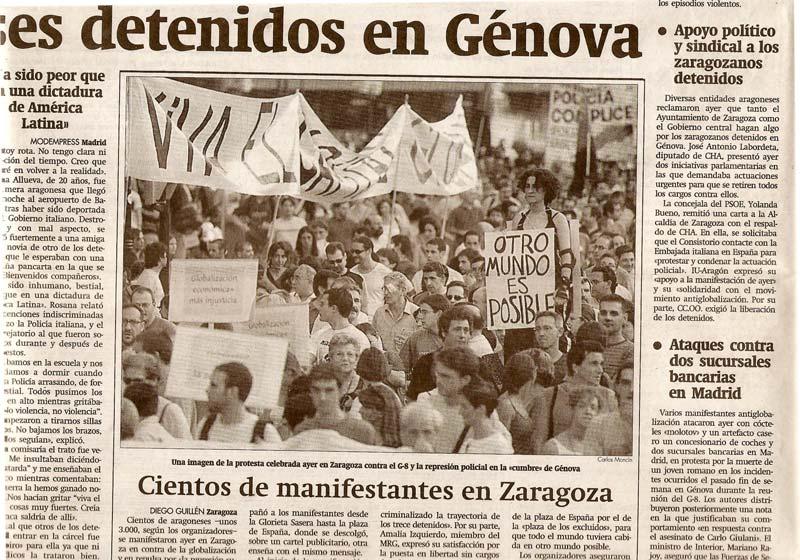 Detenidos en Génova. 2002