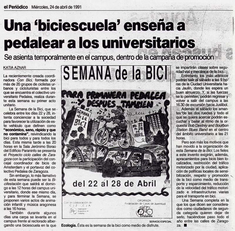 Biciescuela 1991