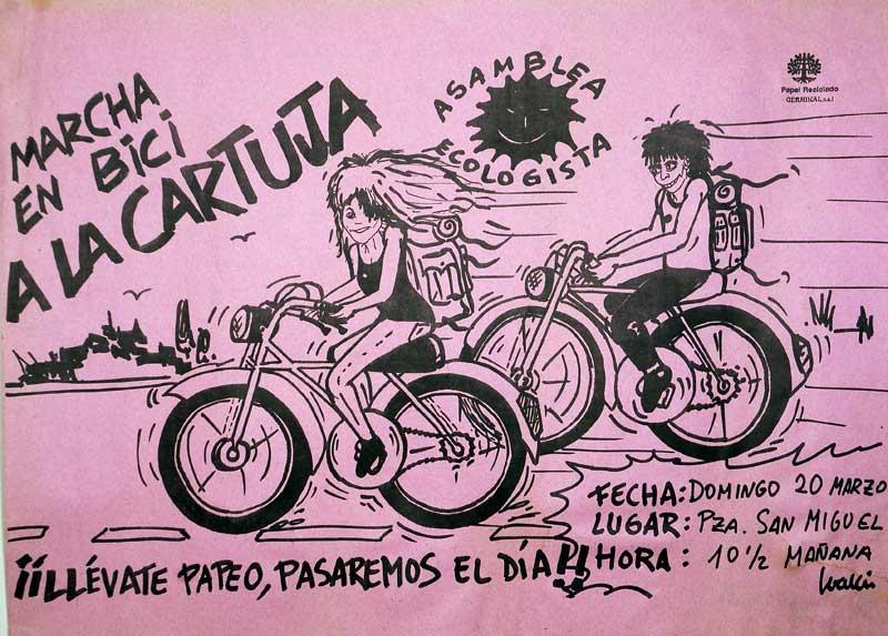 Marcha en bici a La Cartuja