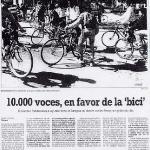 10000 voces a favor de la bicicleta