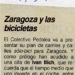 Zaragoza y las bicicletas