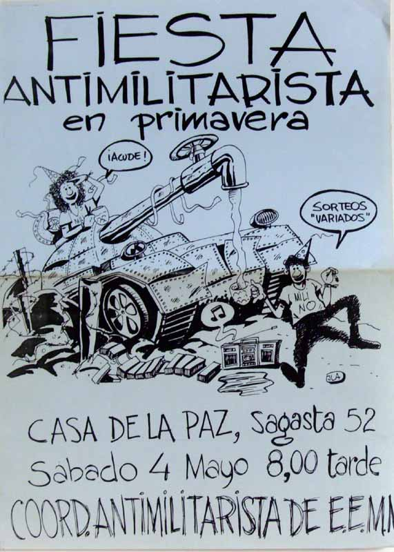 Fiesta antimilitarista en primavera