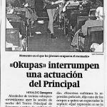 Okupas interrumpen actuación en el Principal
