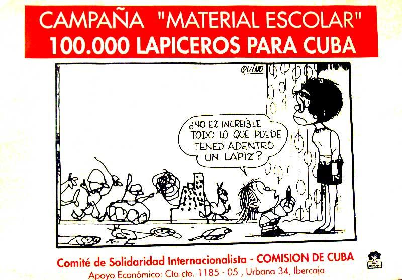 Material escolar para Cuba