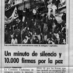 Firmas por la Paz. 1991