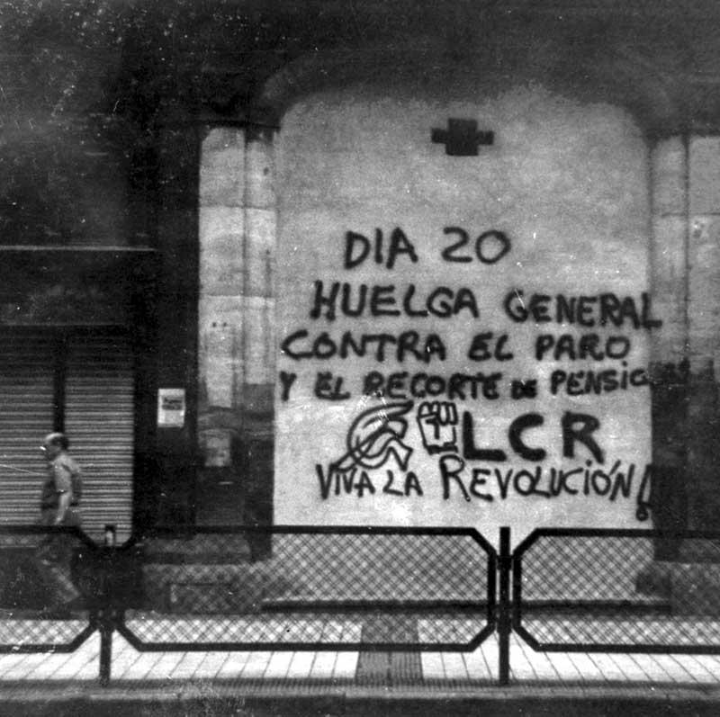 Huelga general. 20 junio 1985