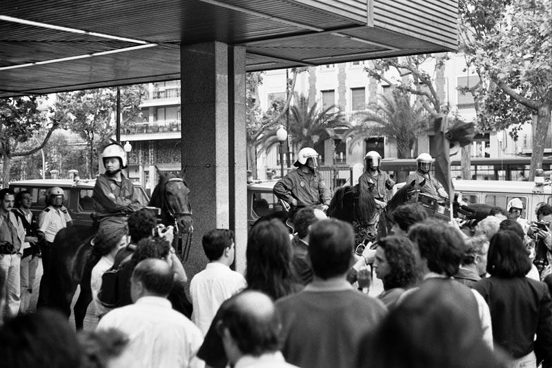 Huelga general 1994. Corte Ingles