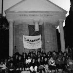Estudiantes de Filosofía y letras en huelga