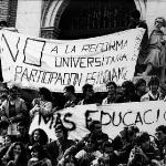 Estudiantes en Huelga en el Paraninfo 1987