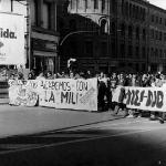 Manifestación apoyo a la insumisión