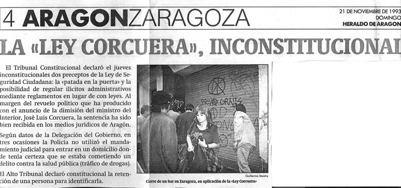 Ley Corcuera inconstitucional