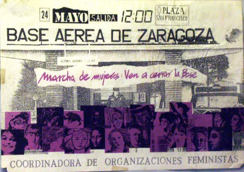 Marcha de mujeres: Ven a cerrar la base