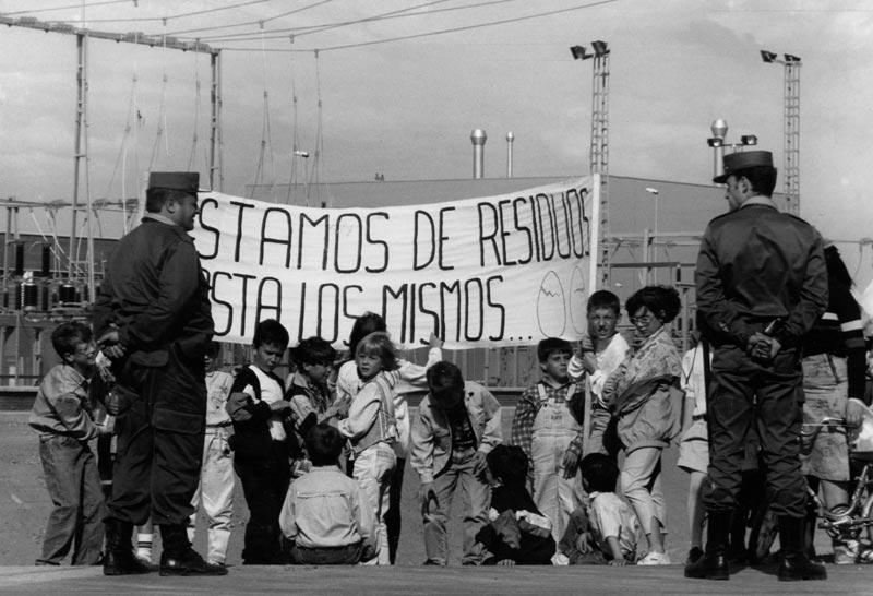 Protesta residuos. 1993