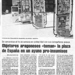 Ayuno pro-insumisos en la Plaza de España