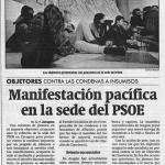 Manifestación en la sede del PSOE