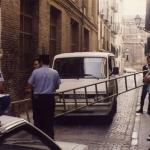 policia bloquea la calle