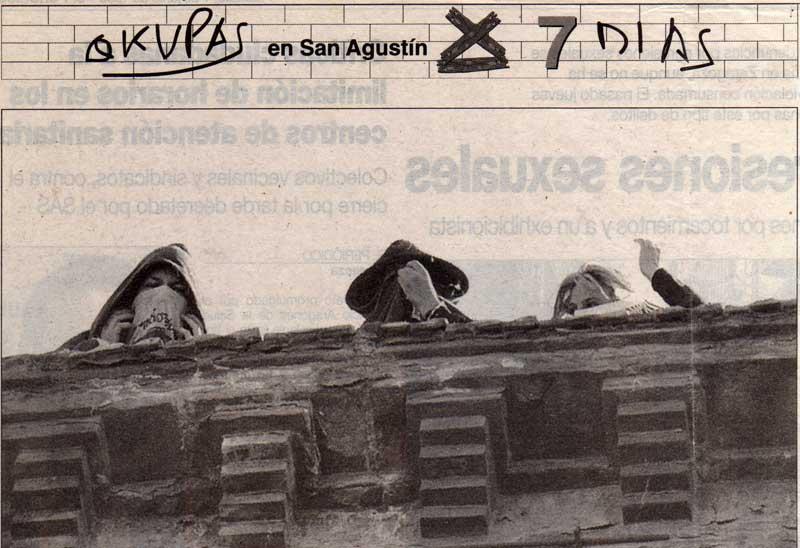 Okupas en San Agustín