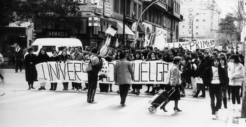 Manifestación conjunta Universidad y Enseñanazas Medias