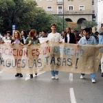Manifestación Universidad 1997-98